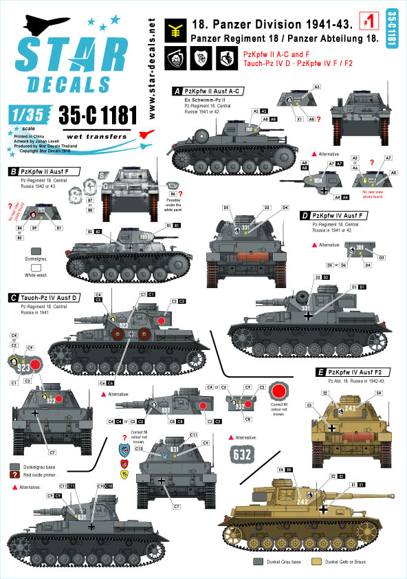 Pt.2 Panthers Normandie 1944 Markings Pz.Div Decals for 1//35 12
