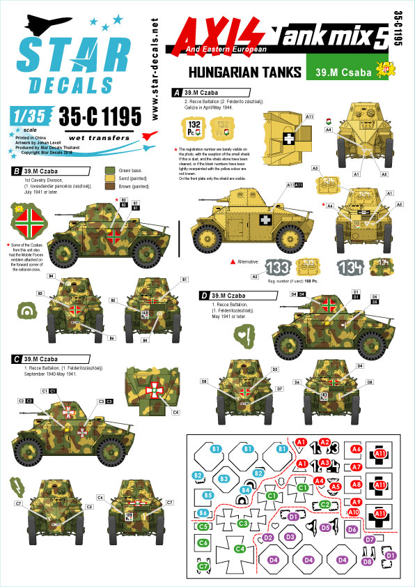 Military Star Decals 1/35  8th K.R.I.H Centurions in the Korean War 1950-51 35899
