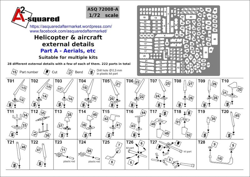 A-Squared Aircraft detailing - AASQ72008A | Hannants