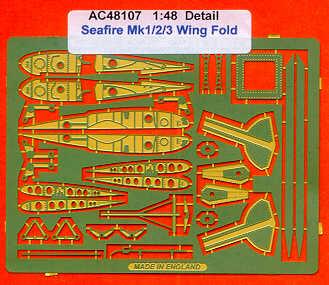 Airwaves 1//48 Fairey Gannet wingfold ETCH SET POUR dynavector Kit # AEC48093