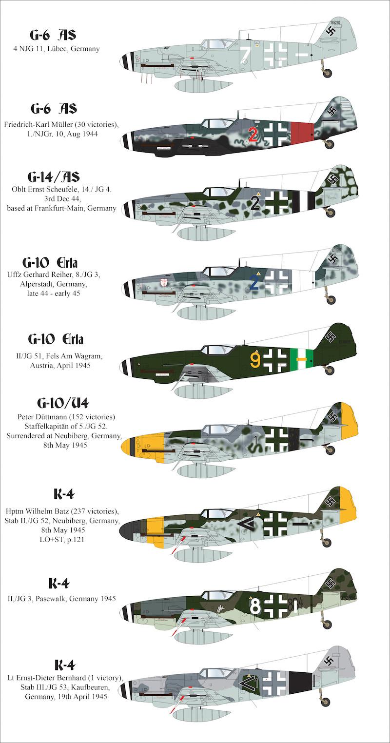 Messerschmitt Bf 109 G-6//R6 Trop JG 53 1//32 decals, Iliad 32001 Cartoon Art