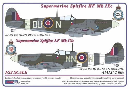 Xtra decalques 1//72 Supermarine Spitfire Mk Ix Collection