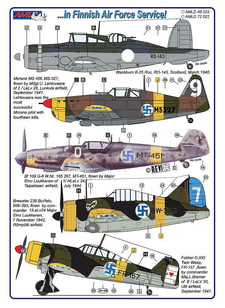 AML Models 1//72 CURTISS P-36 or H-75 HAWK Photo Etch Detail Set
