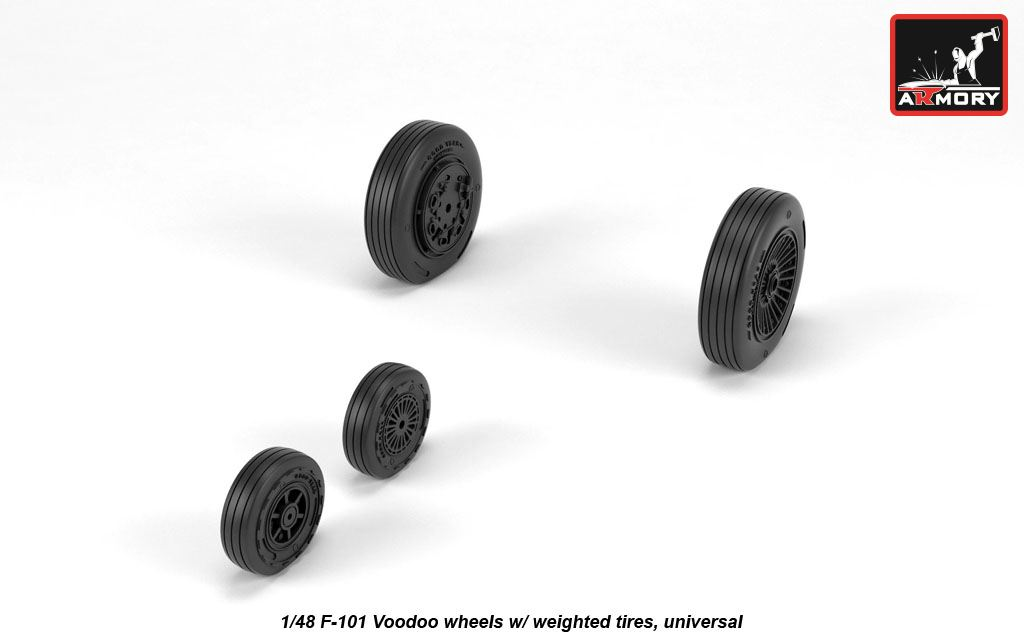 Armory Models 1//48 MCDONNELL F-101 VOODOO WEIGHTED WHEELS Resin Set