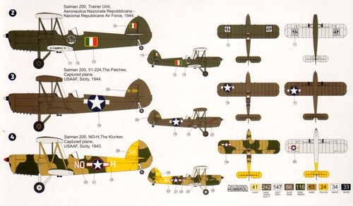 USAAF AZ Models 1//72 Saiman 200 Italian AF LE # 74074