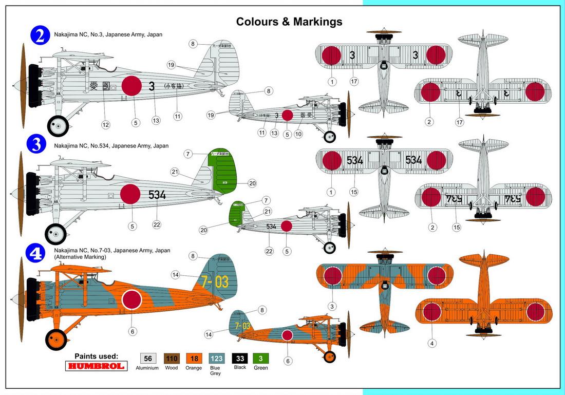 KORA Decals 1//72 NAKAJIMA TYPE 91-1 Fighter Manchukuo Aviation Service