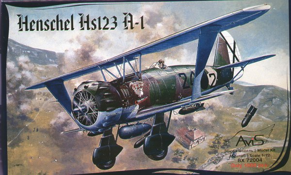 Xtradecal 1//72 X72280 Henschel Hs123A-1//B-1 decal sheet