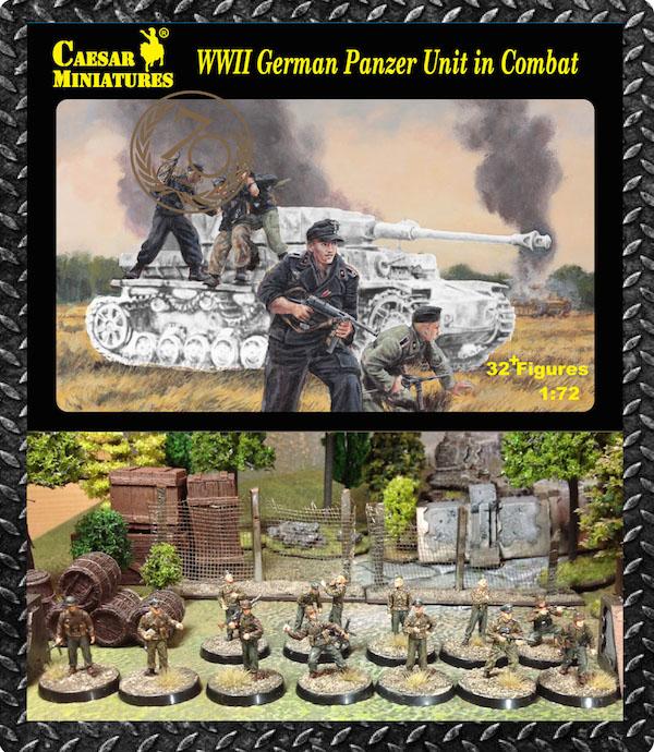 WWII German Infantry Tank Riders WinterSet 2 1//72 Soldiers Figures Kit CAESAR