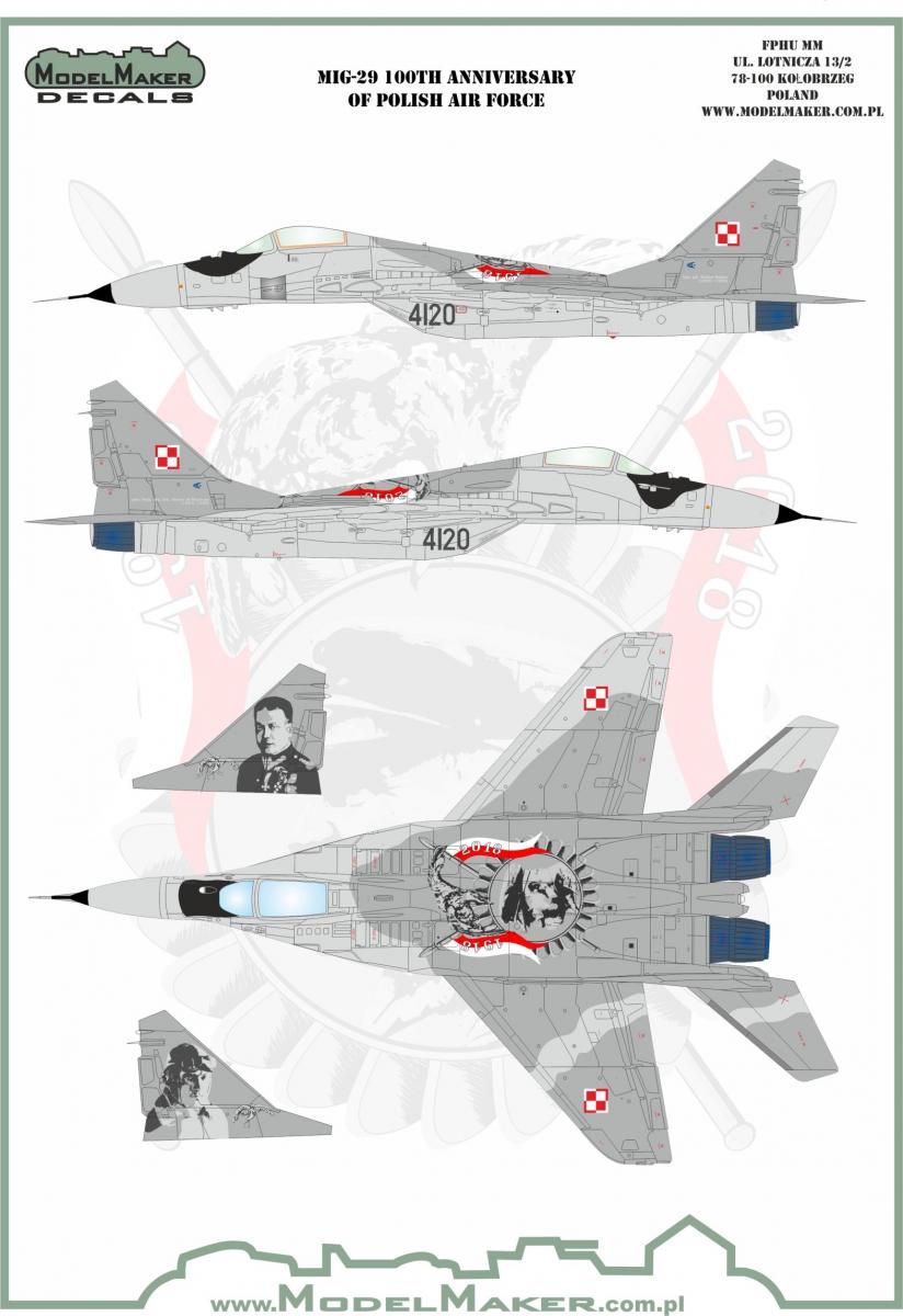 Model Maker Decals 1//72 MiG-29M Heroes of Kosciuszko New paint scheme part 2