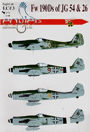 Eagle Cal 1//48 Focke-Wulf Fw 190F # 48166