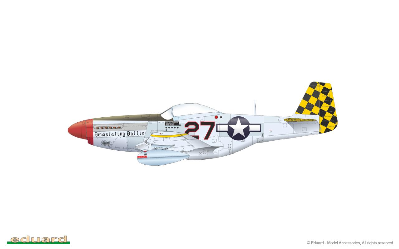 EDUARD 481000 Detail Set for Eduard Kit P-51D in 1:48