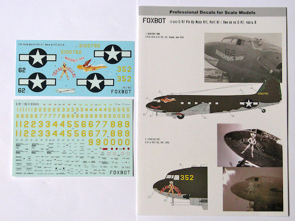 Xtradecal 1//72 X72084 C-47 skytrain//DC-3 dakota bbmf decal set