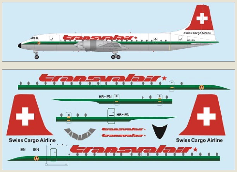 F-rsin Plastic 1//144 Canadair CL-44 Guppy Transmeridian Air Cargo # FRP4125