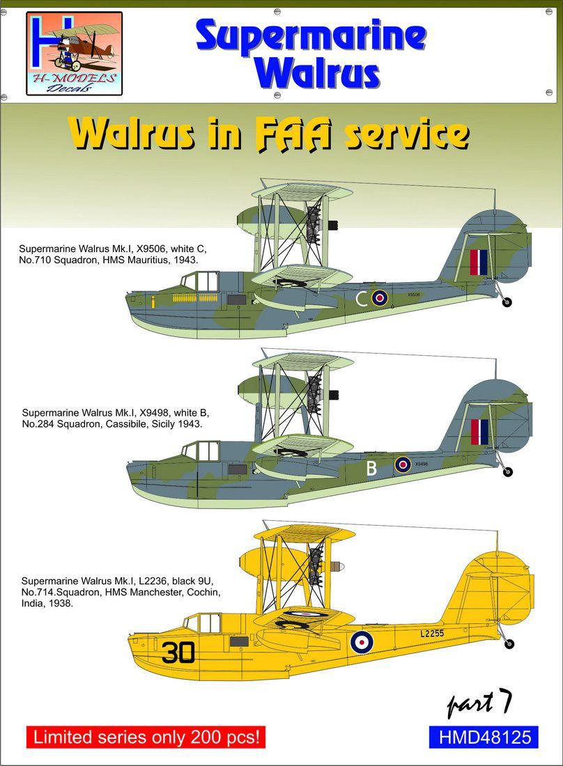 SH 92 SUPERMARINE WALRUS FLYING BOAT