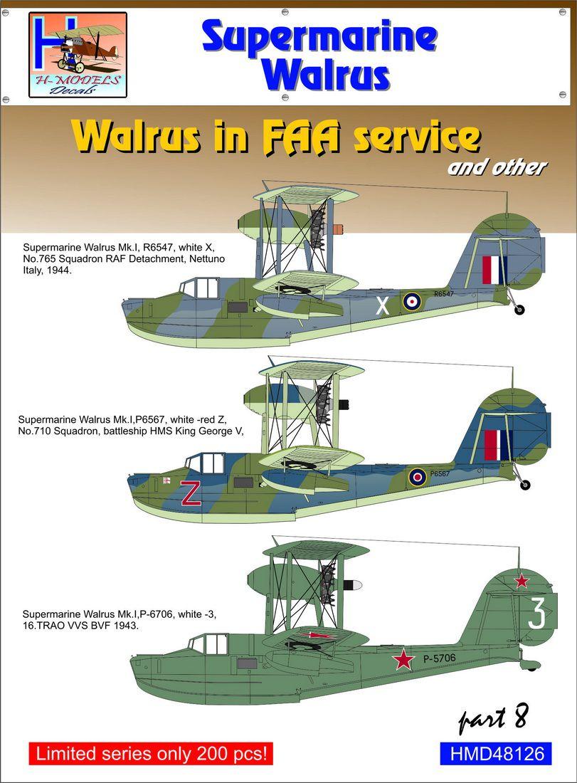 Eduard Accessories EX557/Model-Making Accessory Walrus Mk I for Airfix