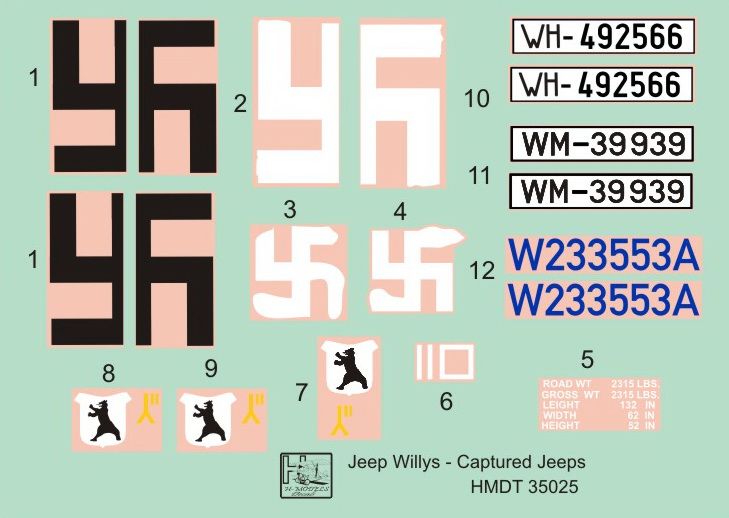 H-Model Decals Military vehicle - HMT35025 | Hannants