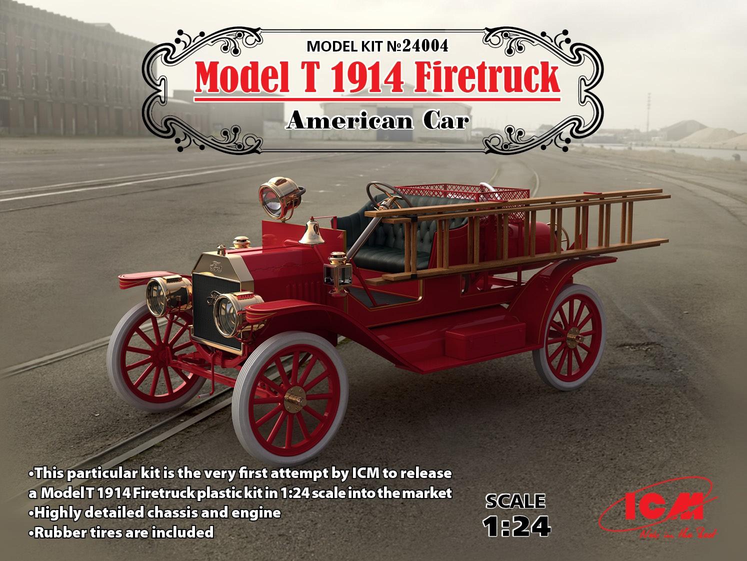 # 24007 ICM 1//24 FORD Team Modèle T 1913 Roadster Kit voiture et 3 Figures
