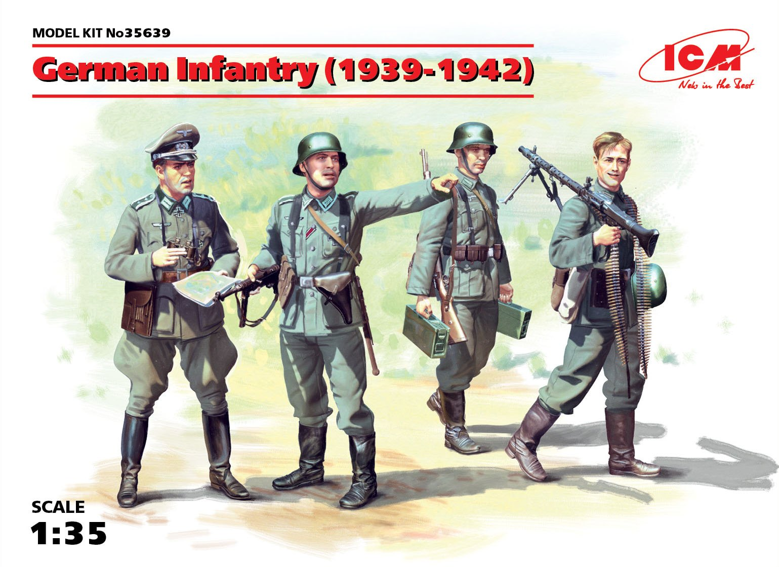 icm modellismo 1:35 ICM35566 Finnish Riflemen Winter 1940 4 figures