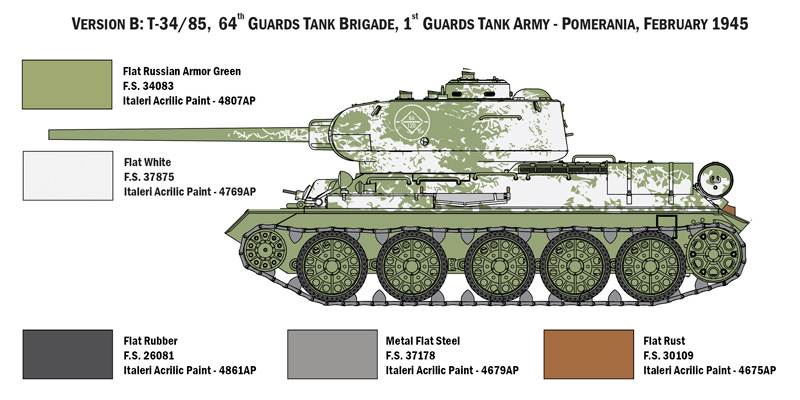 Tank Model Decal Detail Up 1//72 Military WWII T-34-85 T-34//85 Russian U.S.S.R