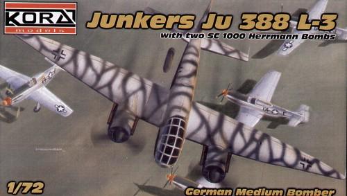 KORA Models 1//72 JUNKERS Ju-488A-1 BOMBER with HANOMAG SS 55N /& 4 SC1000 BOMBS