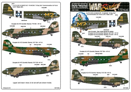 C-47 Skytrain Kit Italeri 1:72 IT0127 Model