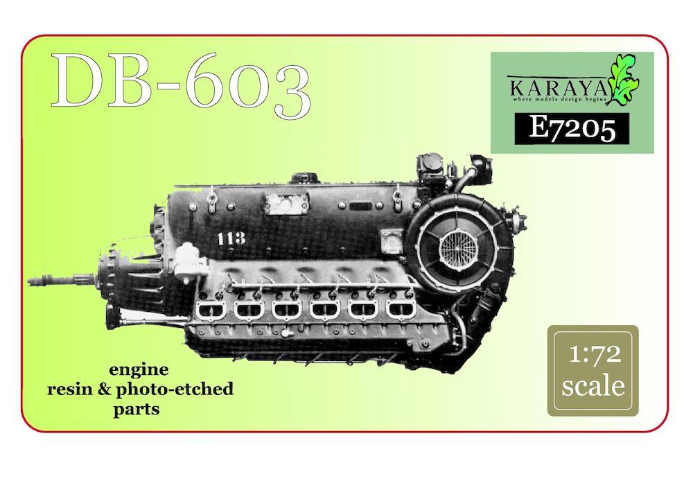 re-edition KARAYA 1//72 DB 605 engine