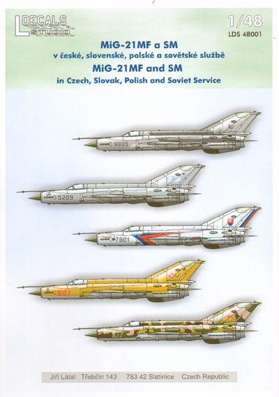 """Hi Decals 1//48 MIKOYAN MiG-21bis /""""FISHBED L//N/"""" Soviet Jet Fighters"""