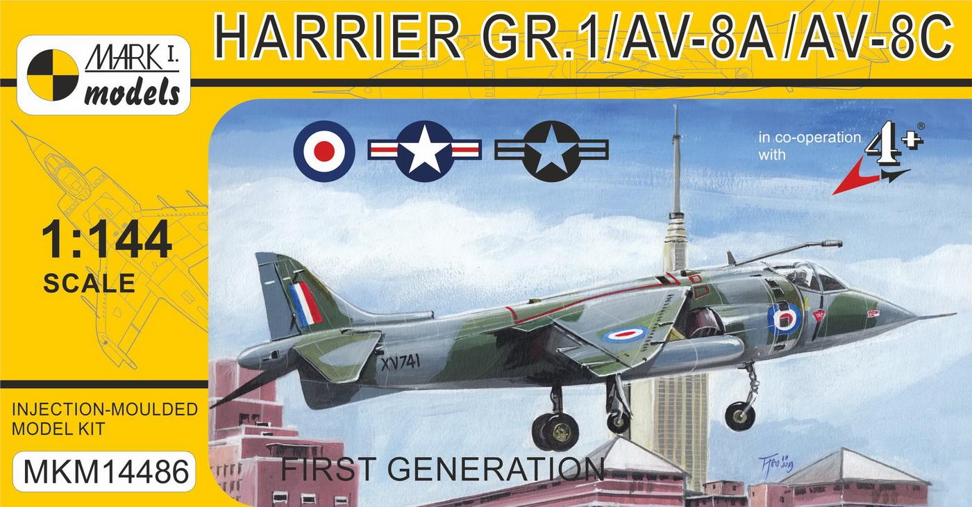 Brengun BRL144145 1//144 McDonnell-Douglas AV-8B Harrier Wheels All kits