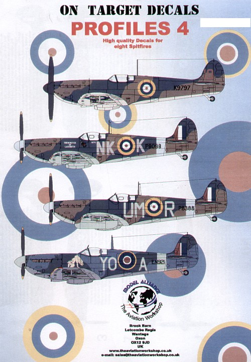 Mk.II Model Decals Xtradecal X48059 1//48 Supermarine Spitfire Mk.I