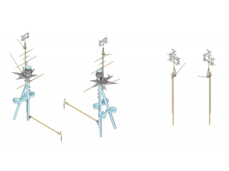 MK1 Design 1//200 HMS Nelson Mast /& Radar Set for Trumpeter kit