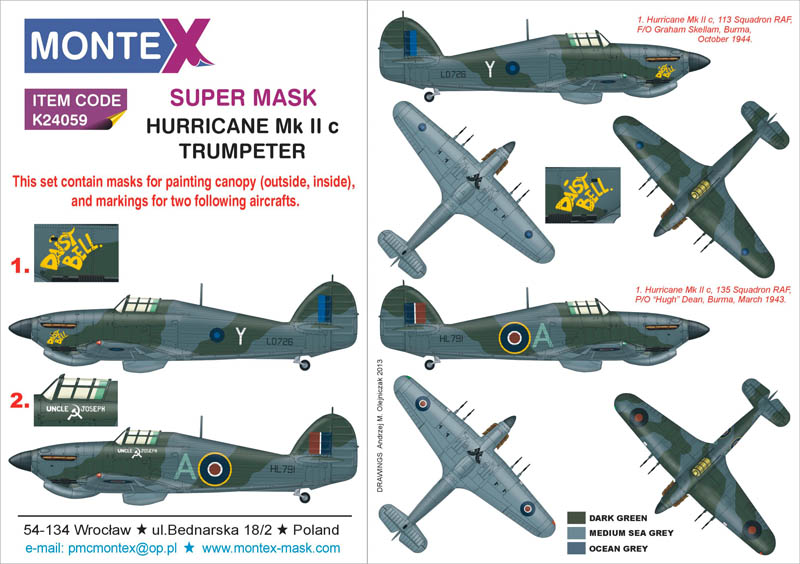 Hawker Hurricane Iic Photo Etched Parts 1:24 Plastic Model Kit TRUMPETER