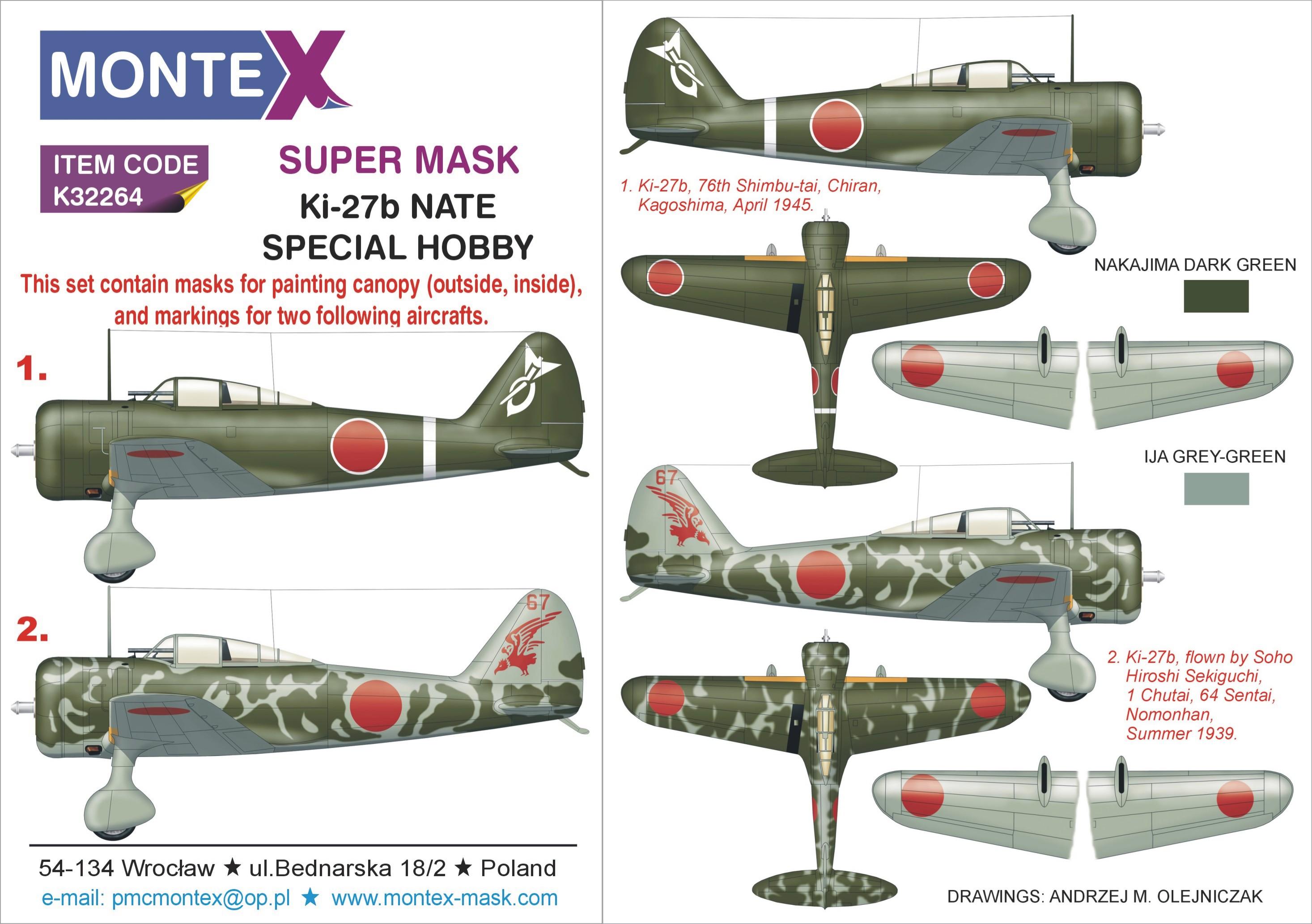 Squadron Nakajima Ki.27 Nate Clear Aircraft Canopy SQ9130