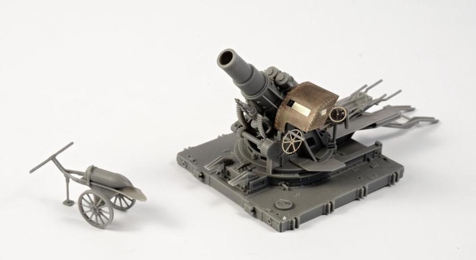 "Hauler HLP72016 1//72 Resin WWII USA 8/"" Howitzer on Transport Wagon"