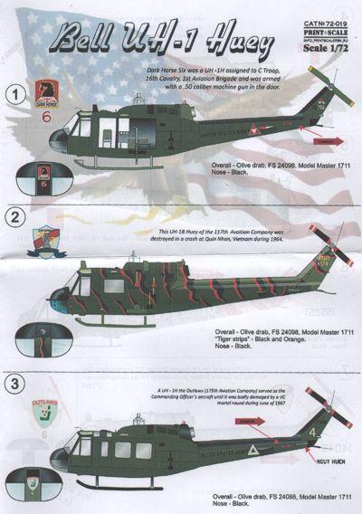 Uh-1D Slick Kit italeri 1:72 IT1247 Modellbau