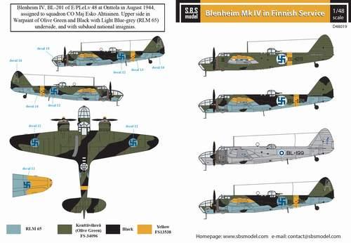 Model Maker 1//72 BRISTOL BLENHEIM Mk.IVF Paint Mask Set for Airfix Kit