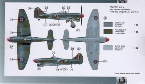 Models & Kits Toys & Hobbies Airwaves 1/72 Hawker Tempest Mk.V ...