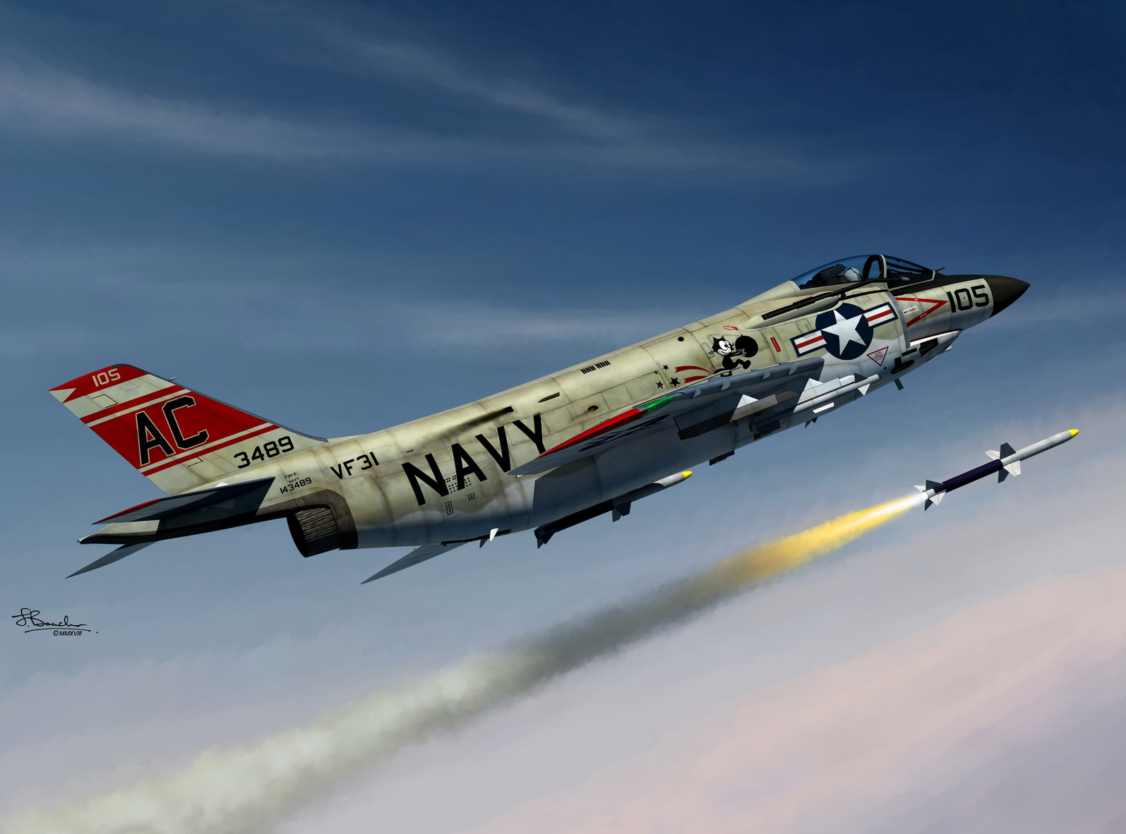 Xtra Decals 1//72 U.S NAVY McDONNELL F-3H DEMON
