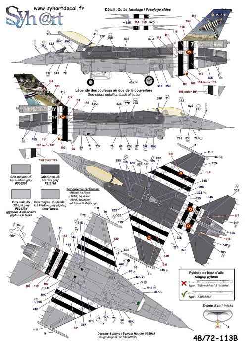 Syhart Decal Aircraft decals - SY72113B | Hannants