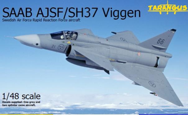 TARANGUS 1//72 Saab 37 Viggen SH//ajsf//ajsh Swedish Air Force De Reconnaissance Aircraft nº 720