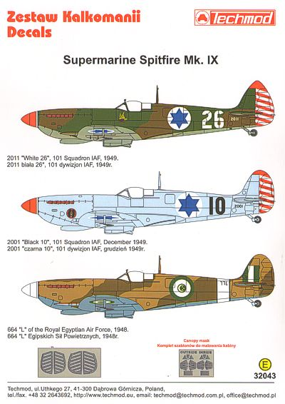 Kits-World 1//32 Supermarine Spitfire Mk.IIa BBMF Part One # 32101