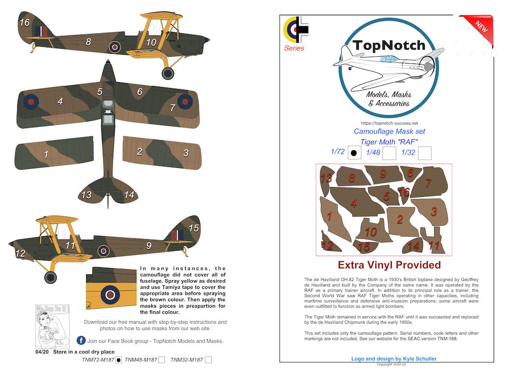 Topnotch RAM F-35A Vinyl Masques pour Meng 1//48
