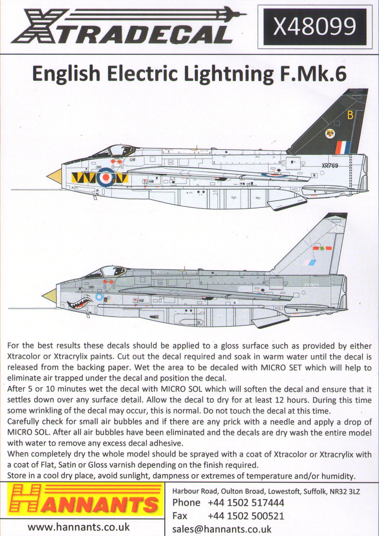 Xtradecal Aircraft decals - X48099 | Hannants