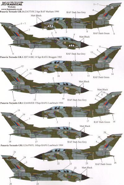 Xtradecal 1//48 Panavia Tornado GR.1//GR.1A Part 1 # X48134