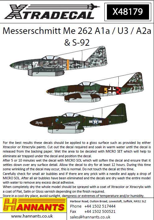 Bf 109 Me 262 ++ He 111 NEW 1:32 Xtradecal X32002 Luftwaffe Swastikas FW 190