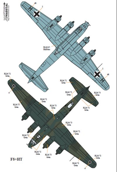 Xtradecal 1//72 Focke Wulf Fw 200 Condor # 72262