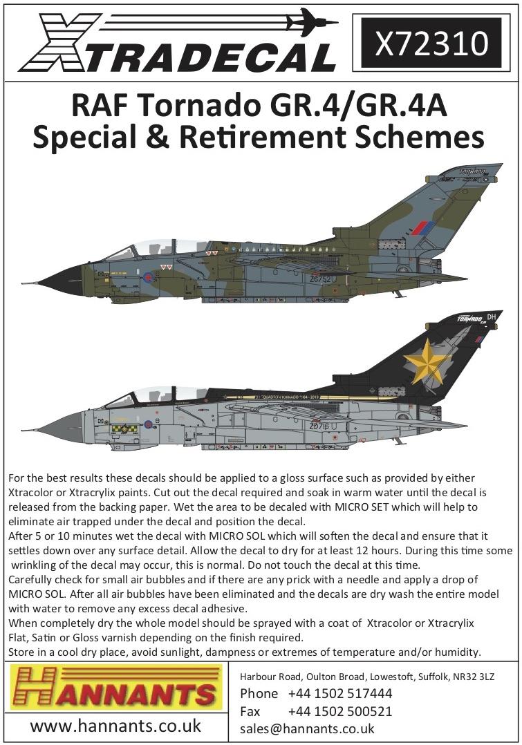 Hi Decals 1//72 PANAVIA TORNADO GR.1//IDS British Jet Fighter