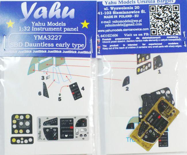 yma3242// YAHU Models Polikarpov I-153 Instrument panel 1//32